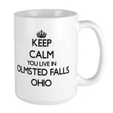 Keep calm you live in Olmsted Falls Ohio Mugs