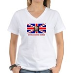 I'M BACKING BORIS Women's V-Neck T-Shirt