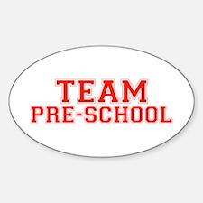 Team Pre-School Oval Decal