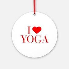I love Yoga-Bau red 500 Ornament (Round)