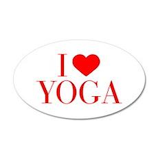I love Yoga-Bau red 500 Wall Decal