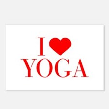 I love Yoga-Bau red 500 Postcards (Package of 8)