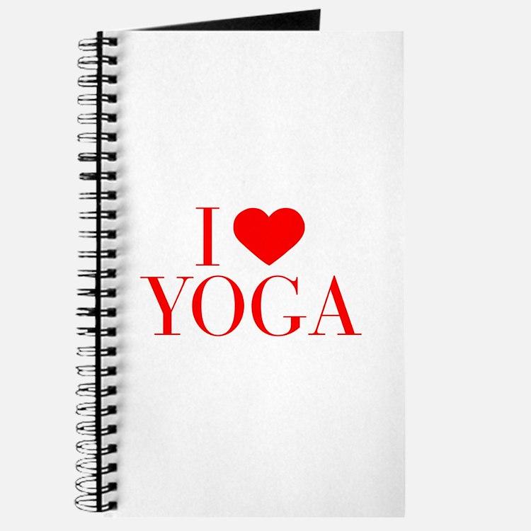 I love Yoga-Bau red 500 Journal