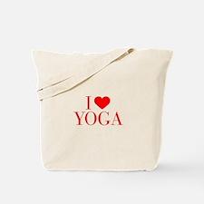 I love Yoga-Bau red 500 Tote Bag