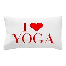I love Yoga-Bau red 500 Pillow Case