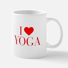 I love Yoga-Bau red 500 Mugs