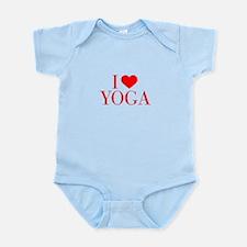 I love Yoga-Bau red 500 Body Suit