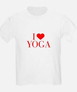 I love Yoga-Bau red 500 T-Shirt