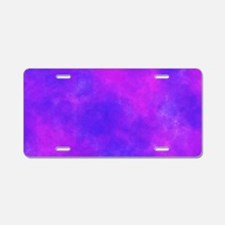 Purple Aluminum License Plate