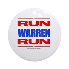 Run Warren Run RBW Round Ornament