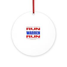 Run Warren Run RBW Round Ornament
