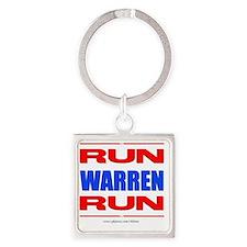 Run Warren Run RBW Square Keychain