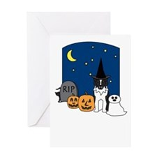 Australian Shepherd Halloween Greeting Card
