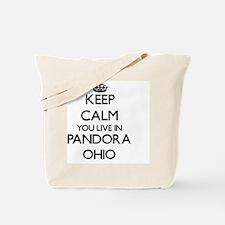 Keep calm you live in Pandora Ohio Tote Bag