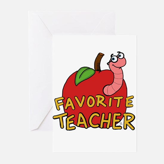 Favorite Teacher Greeting Cards