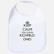 Keep calm you live in Richfield Ohio Bib