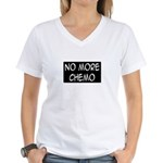 'No More Chemo' Women's V-Neck T-Shirt