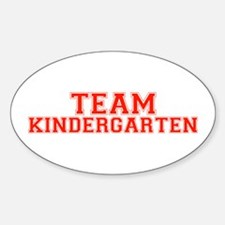 Team Kindergarten Oval Decal