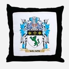 Wilson Coat of Arms - Family Crest Throw Pillow