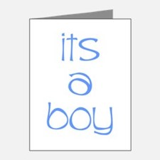 It's A Boy Note Cards (Pk of 20)