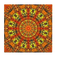 Harmony in Orange Tile Coaster