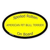 Pitbull terrier stickers Single