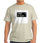 'Cancer:0 My Colon:1' Light T-Shirt