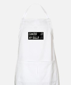 'Cancer:0 My Balls:1' BBQ Apron