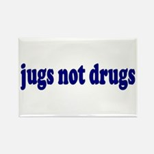 Jugs Not Drugs (Breast) Rectangle Magnet