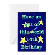 Out of this World 14th Birthday Card