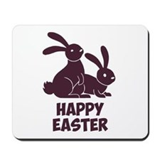 Happy Easter Bunnies Mousepad