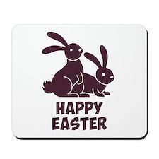 Happy Easter Bunnies Mousepad