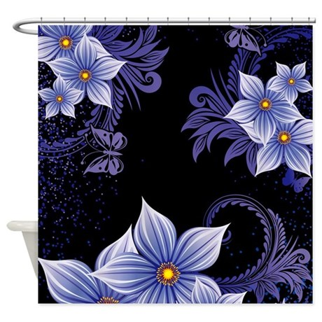 Flowers Shower Curtain By WickedDesigns4