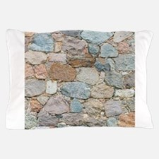 old wall from field stones Pillow Case