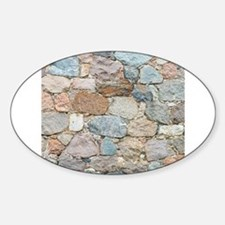 old wall from field stone Decal