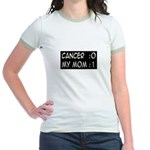 'Cancer:0 My Mom:1' Jr. Ringer T-Shirt