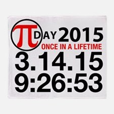 Pi Day 2015 Throw Blanket