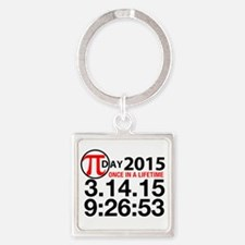 Pi Day 2015 Square Keychain