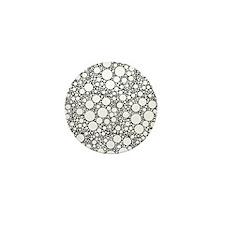 Bubbles on Black Mini Button (10 pack)