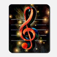 Music Motif-Treble Clef Mousepad