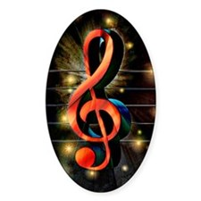 Music Motif-Treble Clef Decal