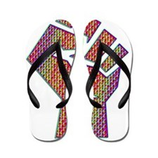 Fist of Psychedelia Flip Flops
