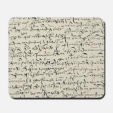 Ancient Manuscript Mousepad