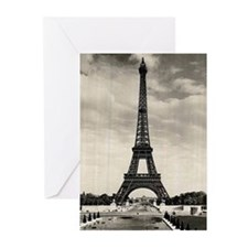 Vintage Eiffel Tower Greeting Cards