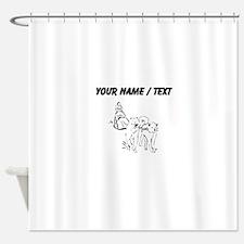 Custom Dog Sled Racing Shower Curtain