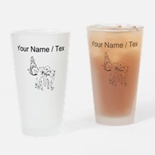 Custom Dog Sled Racing Drinking Glass
