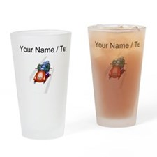 Custom Bobsledding Drinking Glass