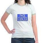 'F*CK CANCER' Jr. Ringer T-Shirt