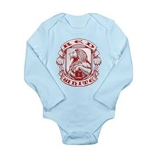 Red and White Crest Body Suit