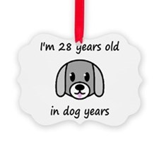 4 dog years 2 - 2 Ornament